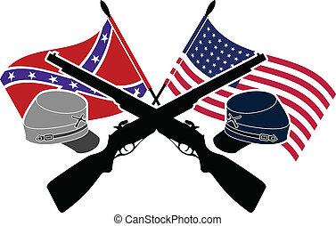 civil, americano, guerra