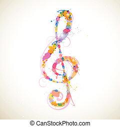 clef, coloridos