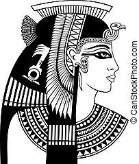 cleopatra, cabeça, detalhe