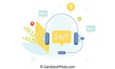 cliente, concept., apoio, serviço