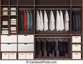 cloakroom, armário, vetorial