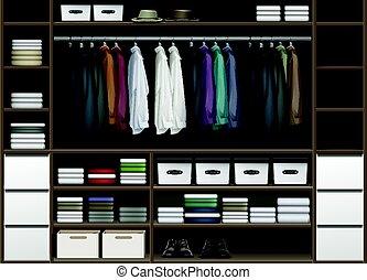 cloakroom, vetorial, armário