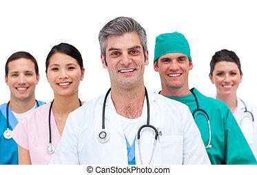 close-up, equipe, médico