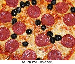close-up, pizza