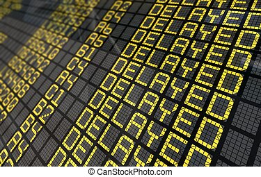close-up, tábua, atrasado, internacional, vôos, aeroporto