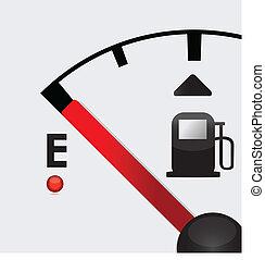 closeup, gás, vazio, ilustração, tanque