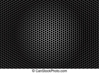 closeup, orador, textura, grille