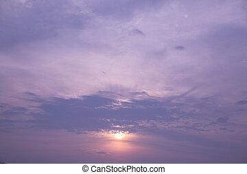 cloudscape, crepúsculo