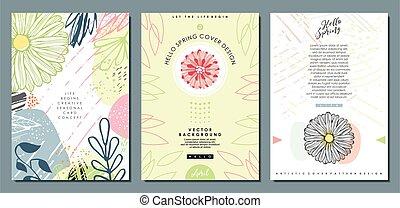 cobertura, padrões florais, templates.