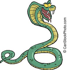 cobra, caricatura, cobra