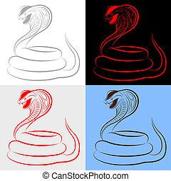 cobra, jogo, cobra
