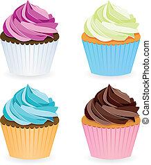 cobrança, cupcake