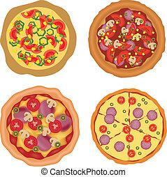 cobrança, pizza