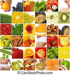 colagem, dieta, nutrição
