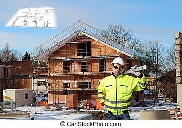 colagem, local construção
