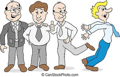 colegas, mobbing, -, valentão, outro