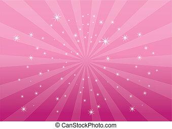 colora experiência, cor-de-rosa, luz