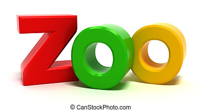 colorido, 3d, palavra, letras, xoo