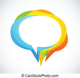 coloridos, abstratos, -, fala, fundo, bolha