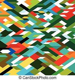 coloridos, abstratos, ilustração, fundo, vetorial, geomã©´ricas