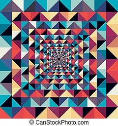 coloridos, abstratos, pattern., seamless, efeito, visual, retro