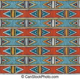 coloridos, abstratos, pattern., seamless, experiência., vetorial, tribal