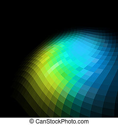 coloridos, abstratos, space., experiência preta, cópia, mosaico