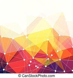 coloridos, abstratos, vetorial, fundo, desenho, triângulos