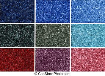 coloridos, amostras, tapete