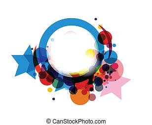 coloridos, círculo, abstratos