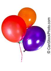 coloridos, decoração, multicolor, partido aniversário, balões, feliz