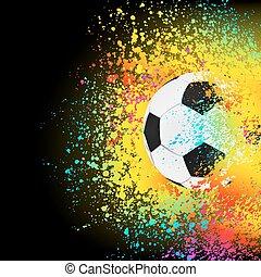 coloridos, eps, fundo, 8, futebol, ball.