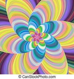coloridos, espiral, vetorial, desenho, fundo, fractal