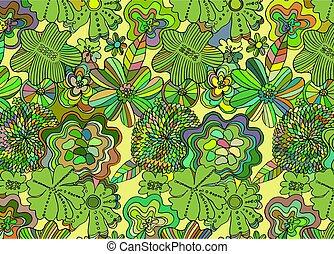 coloridos, flor, fundo, abstratos