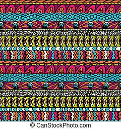 coloridos, ornamento, pattern., seamless, vetorial, etnicidade