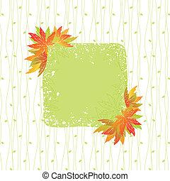 coloridos, padrão, folhas, seamless, outono, fundo