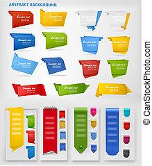 coloridos, papel, jogo, origami, enorme
