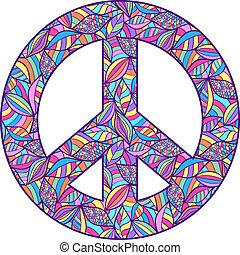 coloridos, símbolo paz