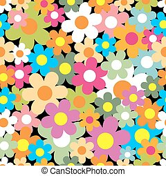 coloridos, seamless, flor, experiência., pattern.
