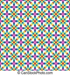 coloridos, sobre, abstratos, geomã©´ricas, seamless, backgro, pattern., branca
