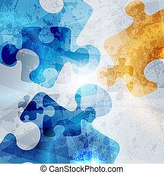 coloridos, vindima, abstratos, experiência., forma, vetorial, desenho, incorporado, quebra-cabeça