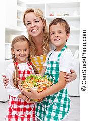 comer saudável, conceito, educação