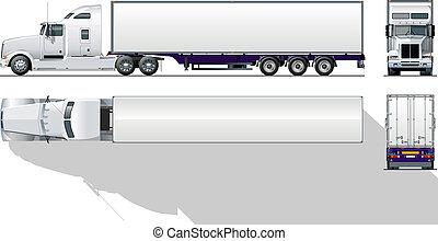 comercial, hi-detailed, semi-caminhão