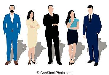 comerciante, cobrança, roupas, vendedor, work., workers., poses., escritório, negócio, professor, pessoas, desgaste, homens, negociante, formal, gerente, secretária, vestido, discípulo, advogado, modelo, mulheres, diferente, ilustrações