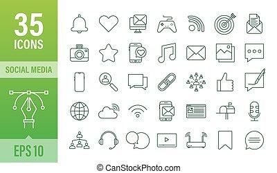 communication., estoque, icon., illustration., bubble., jogo, telefone, social, vetorial, mídia, conversa, digital