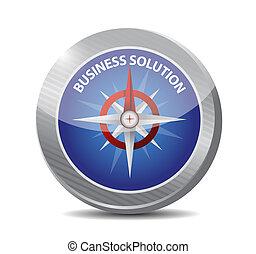 compasso, conceito, solução, sinal negócio