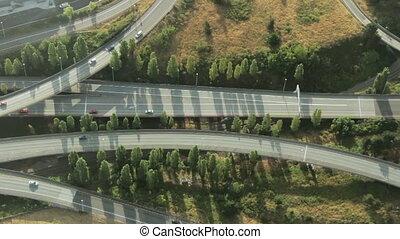 complexo, junção, rodovia