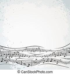 composition., abstratos, musical, fundo