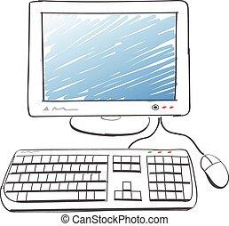 computador, desenho