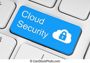 computando, nuvem, segurança, conceito